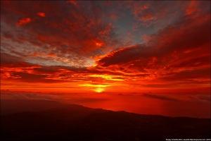 Рассвет на Демерджи, октябрь 2012,